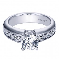 Gabriel 14 Karat Contemporary Engagement Ring ER5521W44JJ