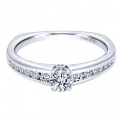 Gabriel 14 Karat Contemporary Engagement Ring ER96081W44JJ