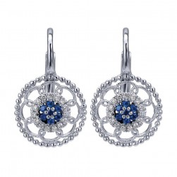 Gabriel Fashion 14 Karat Bombay Leverback Earrings EG12222W45SA