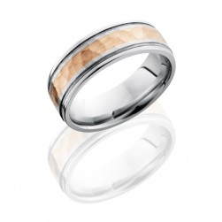 Lashbrook 14KW7.5FGEW2UMIL13/14KR HAMMER-POLISH Precious Metal Wedding Ring or Band