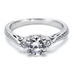 Tacori 18 Karat Hand Engraved Engagement Ring HT2207