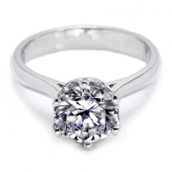 Tacori Platinum Simply Tacori Solitaire Engagement Ring 2515RD8