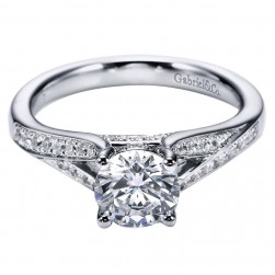 Gabriel 14 Karat Contemporary Engagement Ring ER6389W44JJ