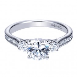 Gabriel 14 Karat Contemporary Engagement Ring ER7472W44JJ