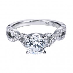 Gabriel 14 Karat Contemporary Engagement Ring ER7805W44JJ
