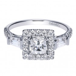 Gabriel 14 Karat Contemporary Engagement Ring ER8849W44JJ