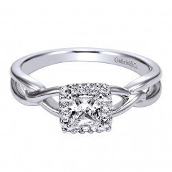 Gabriel 14 Karat Contemporary Engagement Ring ER95707W44JJ
