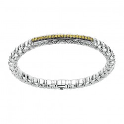 Gabriel Fashion Silver Two-Tone Envy Bangle Bracelet BG3190-65MXJYS