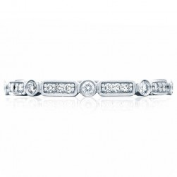 Tacori 202-2ET Platinum Sculpted Crescent Wedding Ring