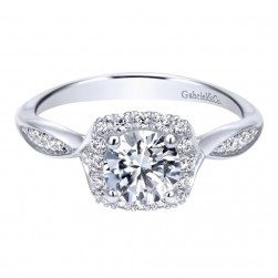 Gabriel 14 Karat Contemporary Engagement Ring ER11713R3W44JJ
