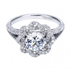 Gabriel 14 Karat Contemporary Engagement Ring ER7729W44JJ