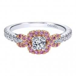 Gabriel 14 Karat Contemporary Engagement Ring ER911733R1T44PS