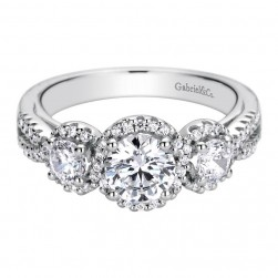 Gabriel 14 Karat Contemporary Engagement Ring ER9252W44JJ