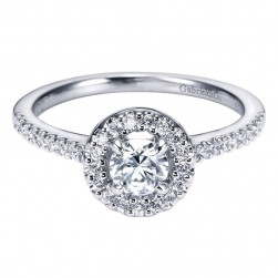 Gabriel 14 Karat Contemporary Engagement Ring ER95416W44JJ