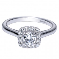 Gabriel 14 Karat Contemporary Engagement Ring ER98708W44JJ