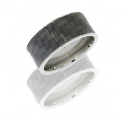 Lashbrook C10F19/CF POLISH Titanium Wedding Ring or Band