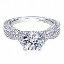 Gabriel 14 Karat Contemporary Engagement Ring ER10282W44JJ