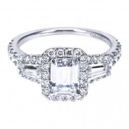 Gabriel 14 Karat Contemporary Engagement Ring ER7269W44JJ