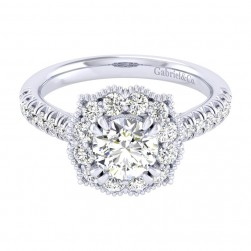 Gabriel 14 Karat Perfect Match Engagement Ring ER039B4ACW44JJ