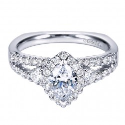 Gabriel 14 Karat Contemporary Engagement Ring ER6572W44JJ