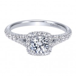 Gabriel 14 Karat Contemporary Engagement Ring ER911897R0W44JJ