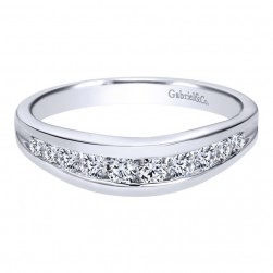 Gabriel 14 Karat Contemporary Wedding Band WB2157W44JJ
