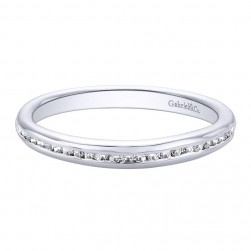 Gabriel 14 Karat Contemporary Wedding Band WB9720W44JJ
