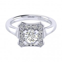 Gabriel 14 Karat Perfect Match Engagement Ring ER009B3AEW44JJ