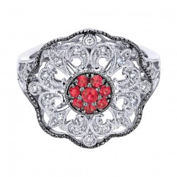 Gabriel Fashion Silver Art Nouveau Ladies' Ring LR50139SVJMC