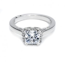 Tacori Platinum Dantela Engagement Ring 2620PRMD