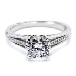 Tacori Platinum Solitaire Engagement Ring 2601RD45