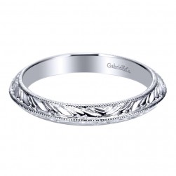 Gabriel 14 Karat Victorian Wedding Band WB8989W4JJJ