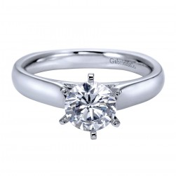 Gabriel Platinum Contemporary Engagement Ring ER8180PTJJJ