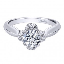 Gabriel 14 Karat Contemporary Engagement Ring ER10135W44JJ