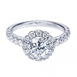 Gabriel 14 Karat Contemporary Engagement Ring ER7292W44JJ