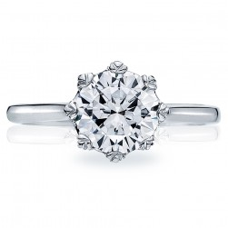 Tacori Platinum Solitaire Engagement Ring 2503RD75