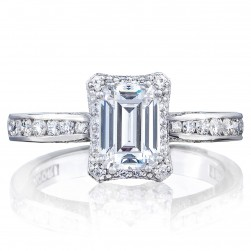 2646-25EC7X5 Platinum Tacori Dantela Engagement Ring