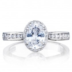 2646-25OV75X55 Platinum Tacori Dantela Engagement Ring