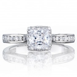 2646-25PR55 Platinum Tacori Dantela Engagement Ring