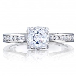 2646-25PR5 Platinum Tacori Dantela Engagement Ring