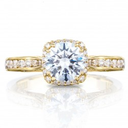 2646-25RDC65Y Platinum Tacori Dantela Engagement Ring