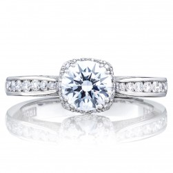 2646-25RDC6 Platinum Tacori Dantela Engagement Ring