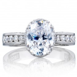 2646-35OV9X7 Platinum Tacori Dantela Engagement Ring