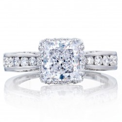 2646-35PR65 Platinum Tacori Dantela Engagement Ring