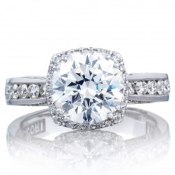 2646-35RDC85 Platinum Tacori Dantela Engagement Ring