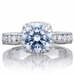 2646-35RDC8 Platinum Tacori Dantela Engagement Ring