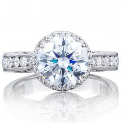 2646-35RDR85 Platinum Tacori Dantela Engagement Ring