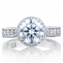 2646-35RDR8 Platinum Tacori Dantela Engagement Ring