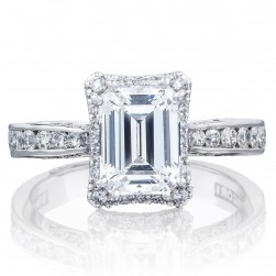 2646-3EC8X6 Platinum Tacori Dantela Engagement Ring