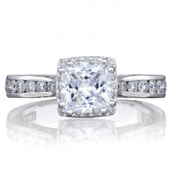 2646-3PR6 Platinum Tacori Dantela Engagement Ring